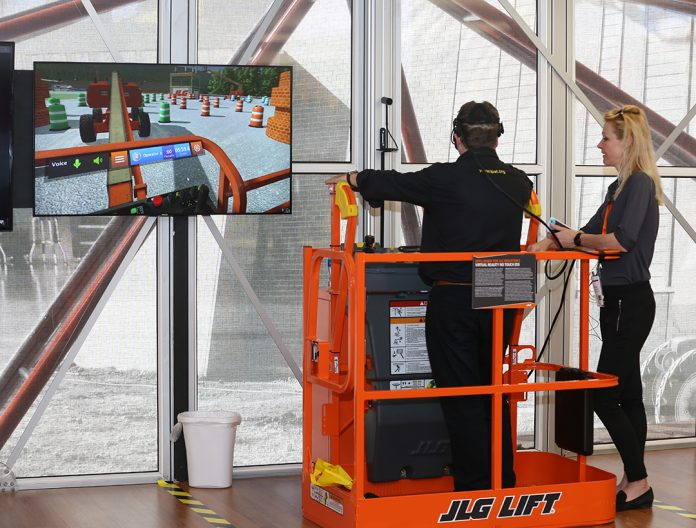 JLG uses virtual reality for real life training