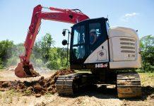 link-belt minimum swing excavator