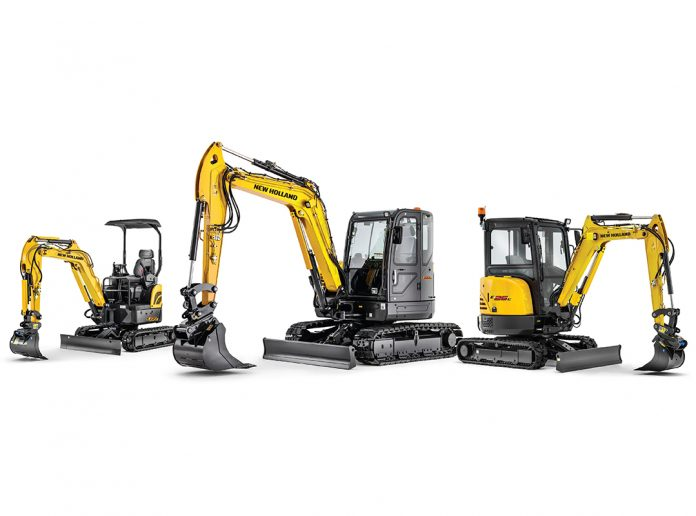 new holland mini excavators