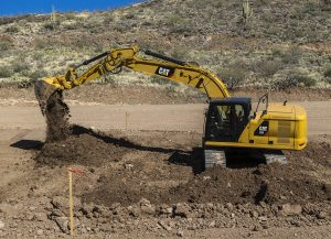 Cat 320 HEX digging foundation