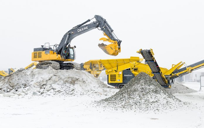 frontline machinery keestrack hybrid crusher