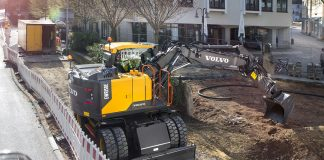 Volvo construction wheeled excavator