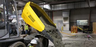 Wacker Neuson concrete construction dumper
