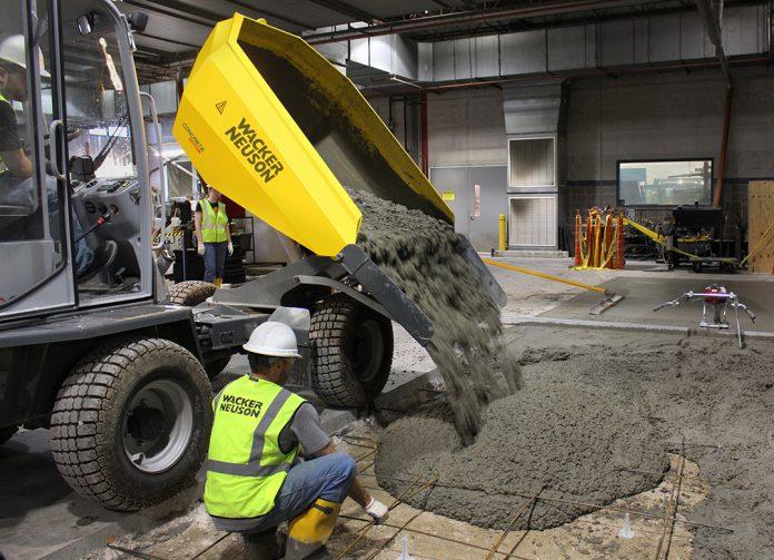Wacker Neuson concrete construction dumper
