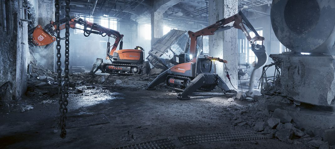 Husqvarna Creighton Rock Drill demolition robot