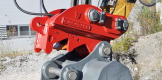 coupler Kinshofer X-lock excavator attchments