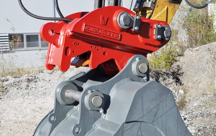 coupler Kinshofer X-lock excavator attchments