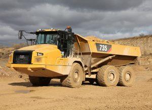 articulated truck cat caterpillar construction heavy equipment