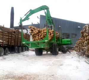 sennebogen material handler forestry