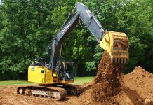 345G john deere excavator reduced tail swing