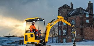 JCB electric mini excavator