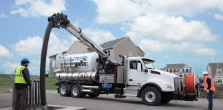 Vactor sewer cleaner