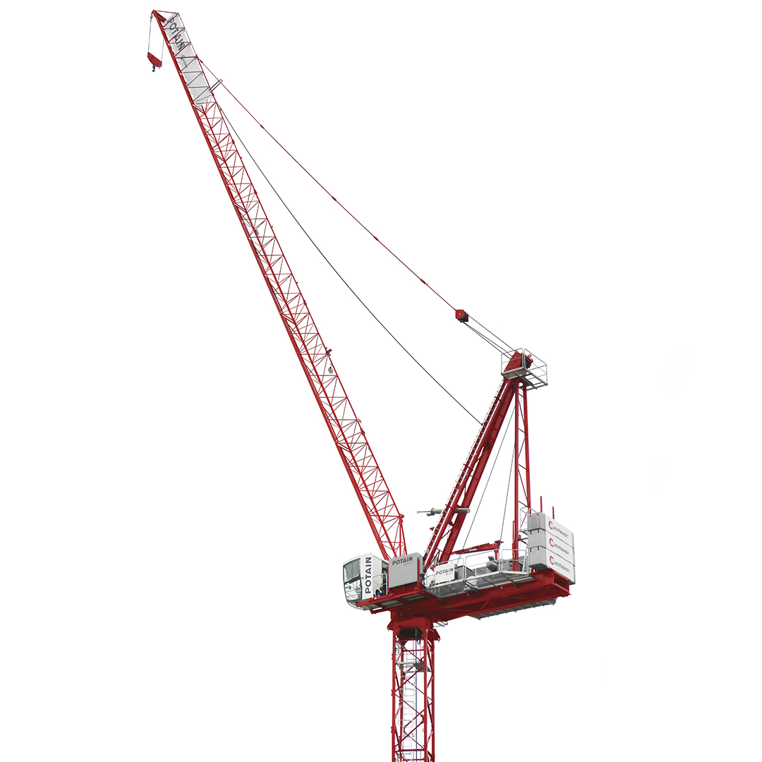 Potain MR 160 C tower crane makes its North American debut