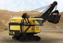 4800 XPC shovel, electric rope shovel surface