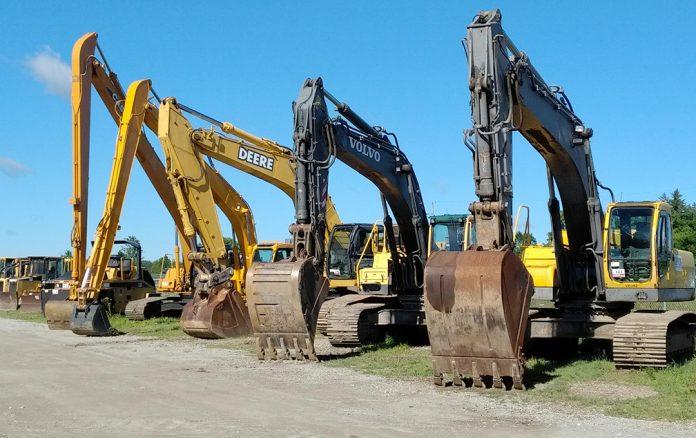 used heavy equipment construction excavator dozer wheel loader