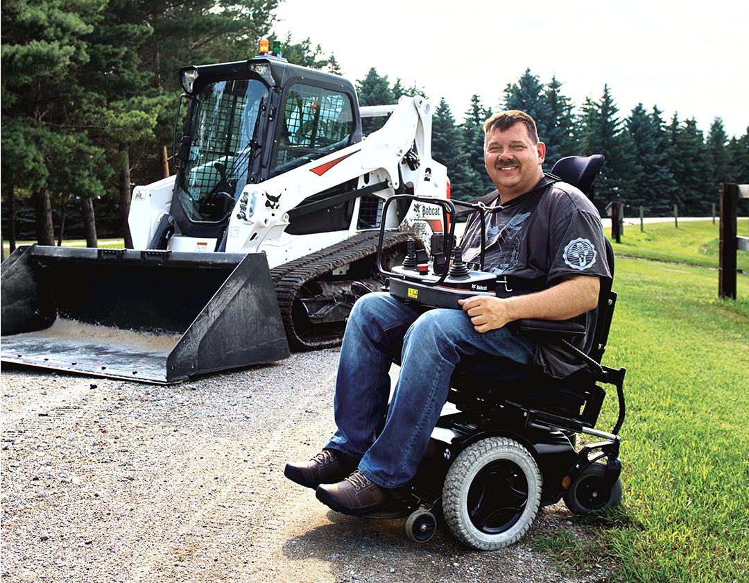 RC loader helps a quadriplegic man return to work - Equipment Journal