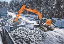 hitachi reduced tail swing excavator