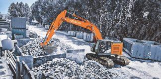 hitachi reduced tail swing excavator
