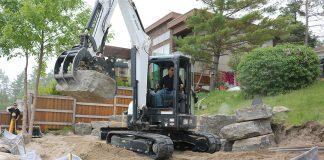 rental equipment bobcat excavator
