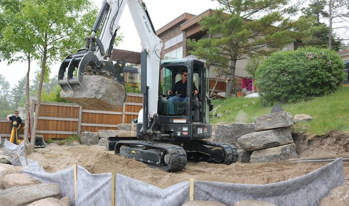 rental equipment bobcat excavator
