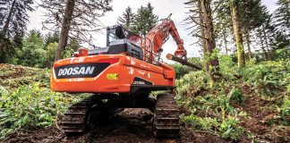 Doosan log loader