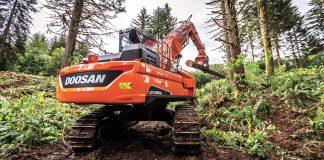 Doosan log loader