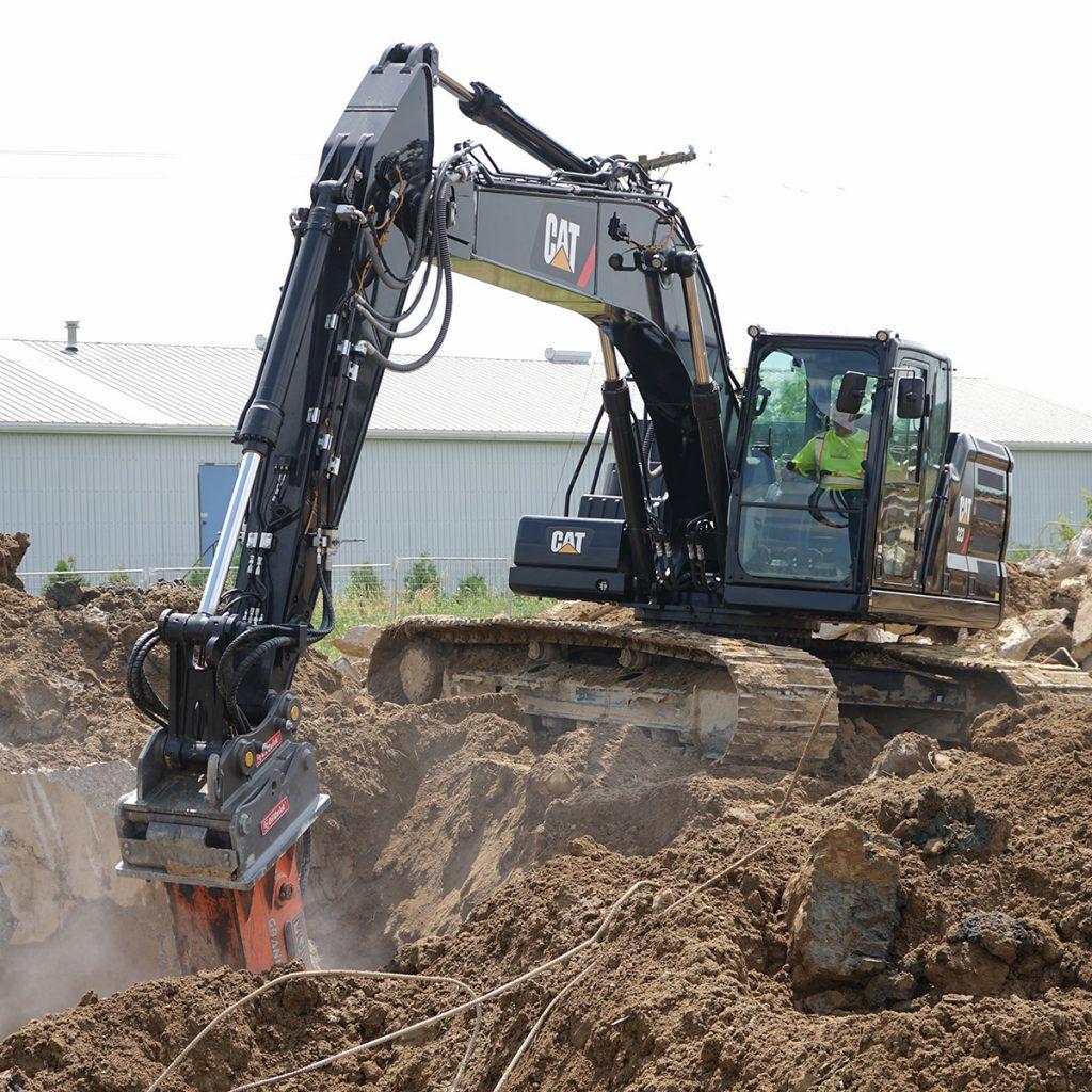 black excavator
