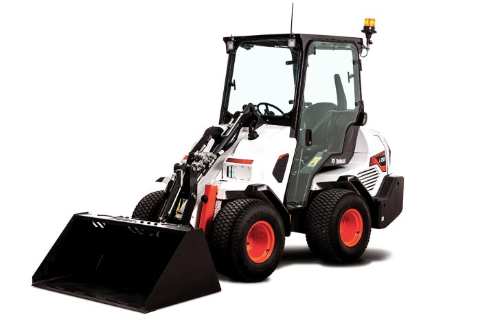 small articulated loader