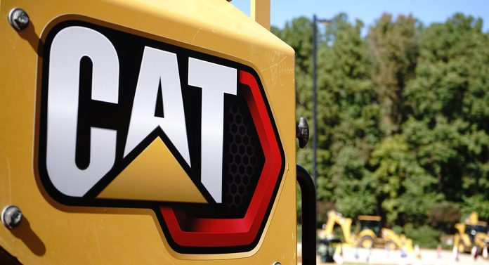 CAT logo on the back of their equipment