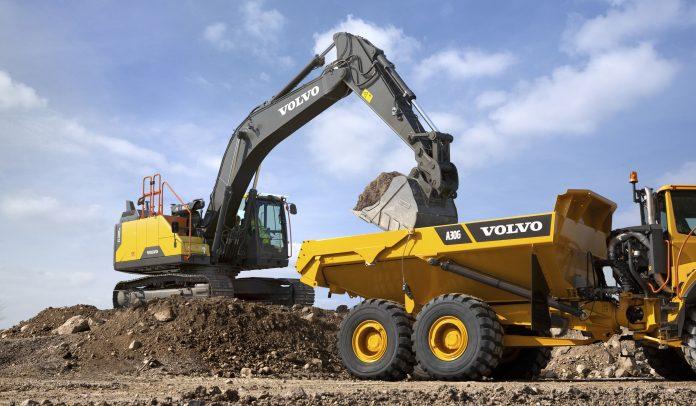 volvo hybrid excavator