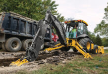 Deere L-series backhoe