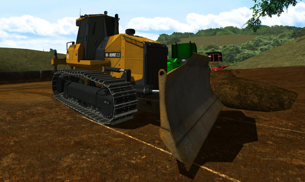 Screenshot of dozer from simulator.