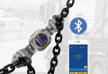 Product shot of ChainSafe attached to chain.