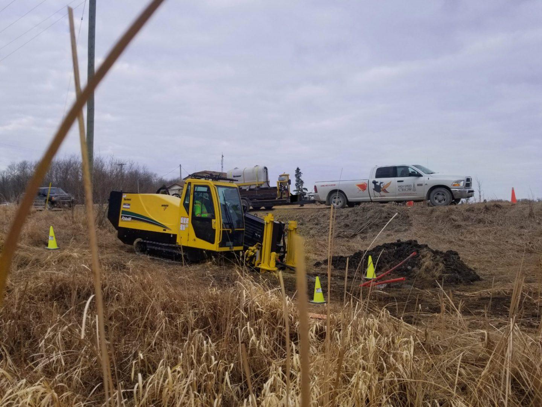 Vermeer D24x4 S3 installing fiber cables in Western Canada.